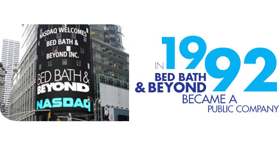 In 1992 Bed Bath and Beyond became a public company