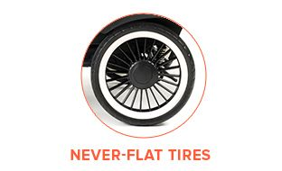 Never-Flat Tires