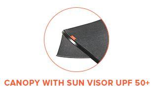 Canopy with Sun Visor UPF 50+