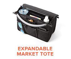 Expandable Market Tote