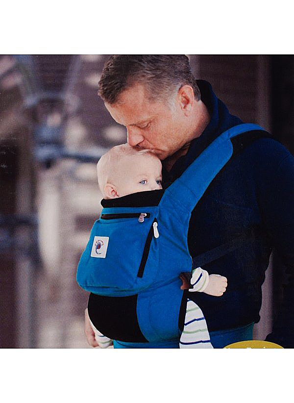 Man with baby in carrier