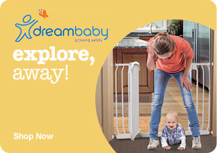 Dreambaby gates - explore, away! Shop Now.