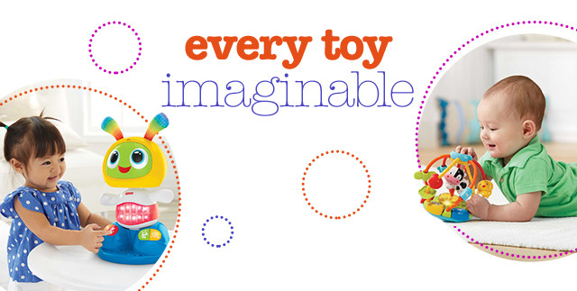 Every Toy Imaginable; Image of children playing with toys.
