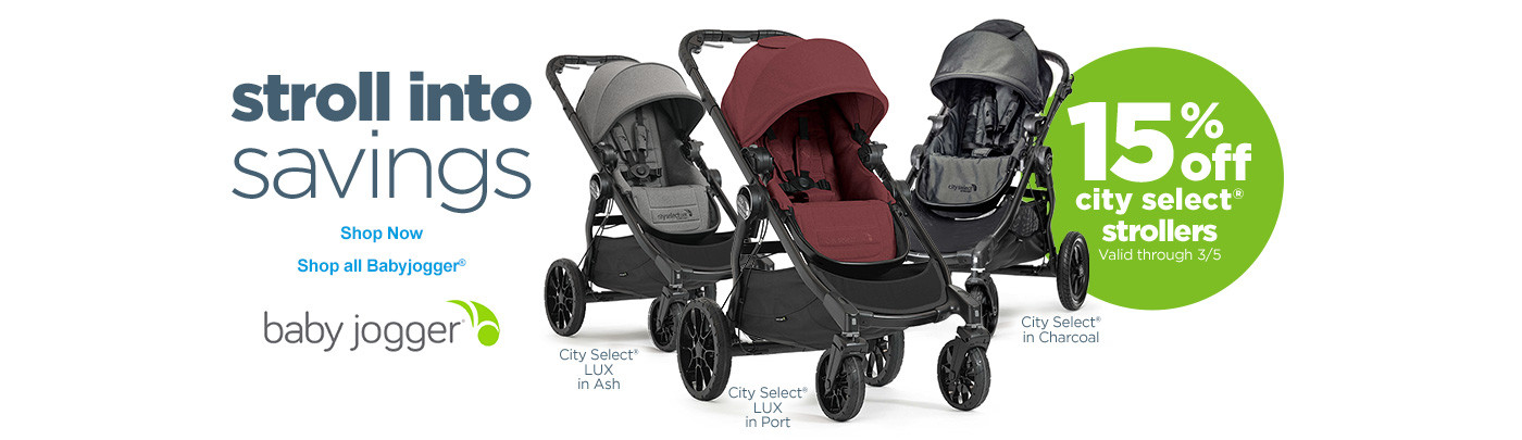 Stroll into Savings with baby jogger