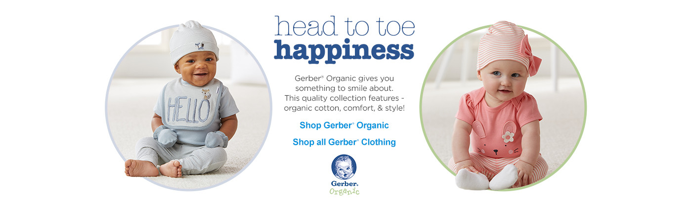 Gerber Organic - Head to toe happiness