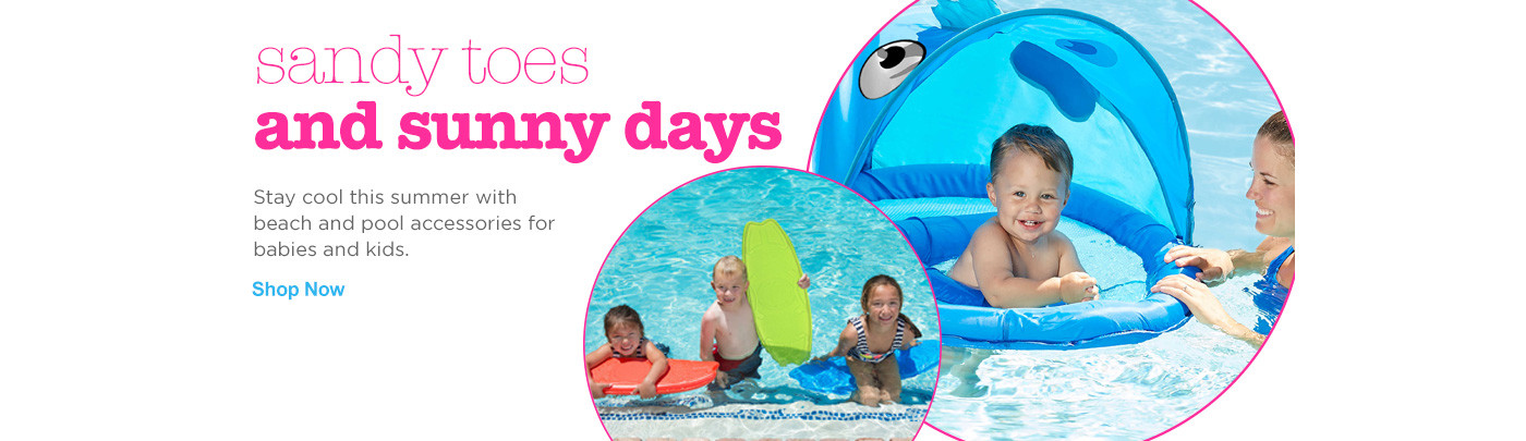 Sandy toes and sunny days - Shop beach and pool accessories