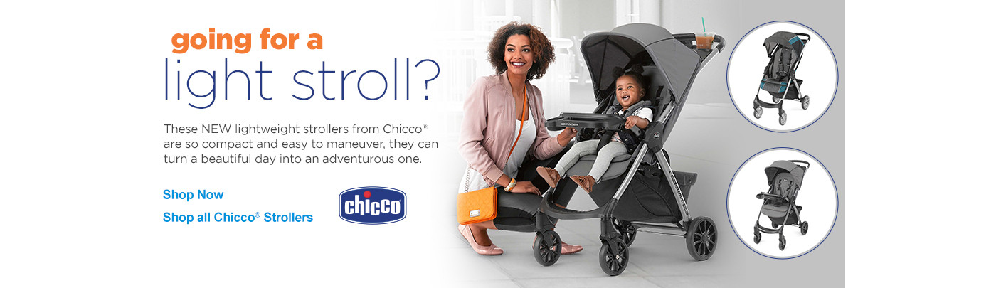 Going for a light stroll? New lightweight stroller from Chicco