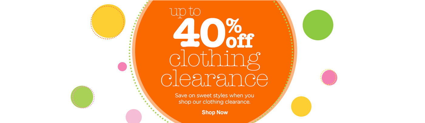 Up to 40% off clothing clearance
