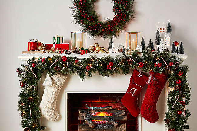 Decorate a Classic Christmas Mantel This Season