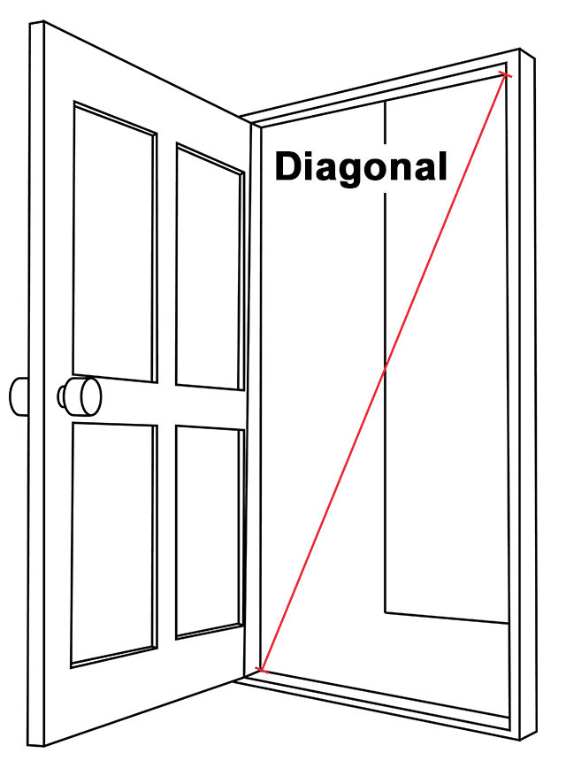 Doorway Diagonal Illustration