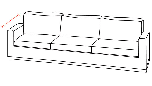 Sofa Depth Illustration