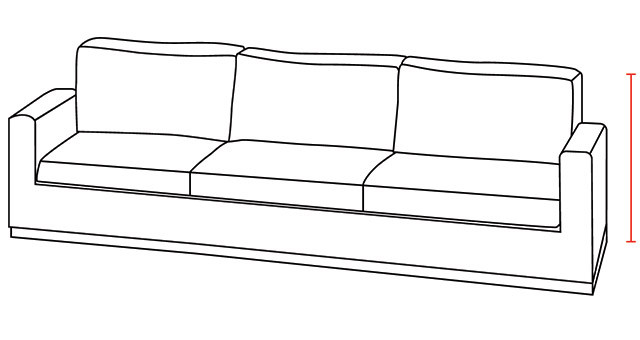 Sofa Height Illustration