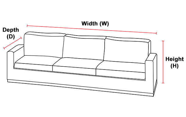 Overall Measurement Illustration for Chairs and Sofas