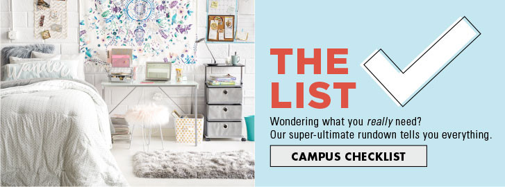 College Checklist Dorm Room Ideas  Essentials  College Landing