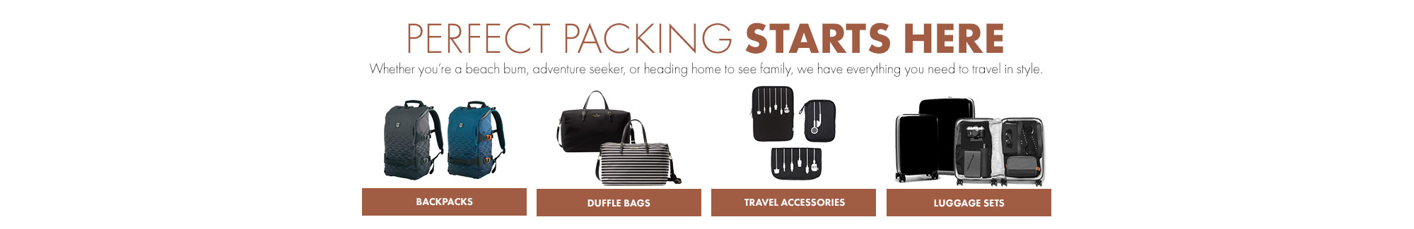 Shop Luggage for Spring Break