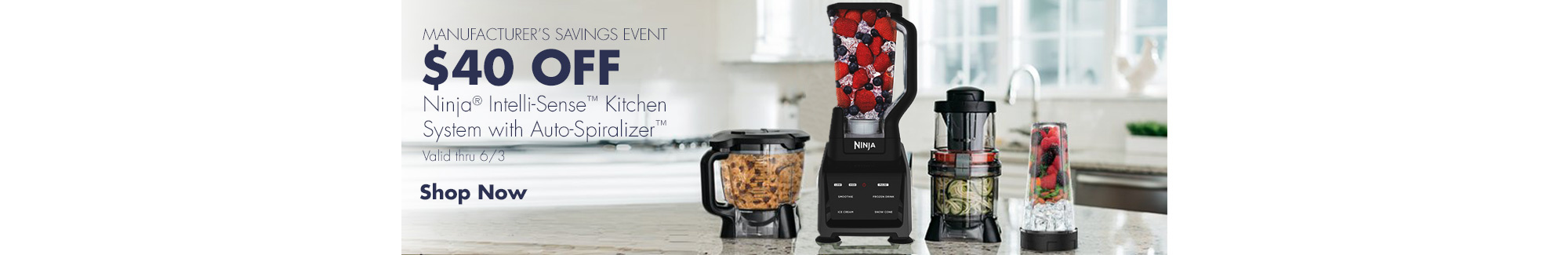 $40 Off Ninja Intelli-Sense Kitchen System. Valid thru 6/3