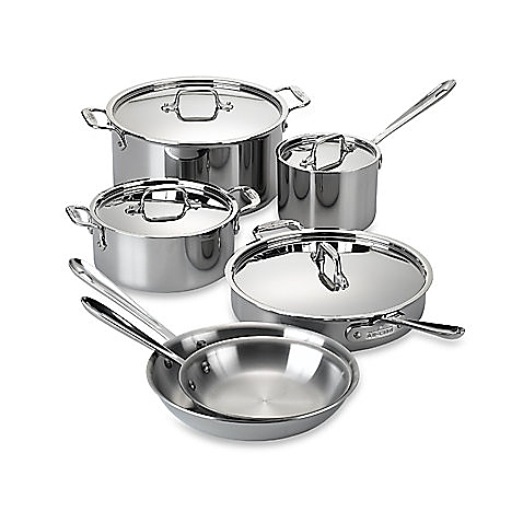 Image of silver pots and pans