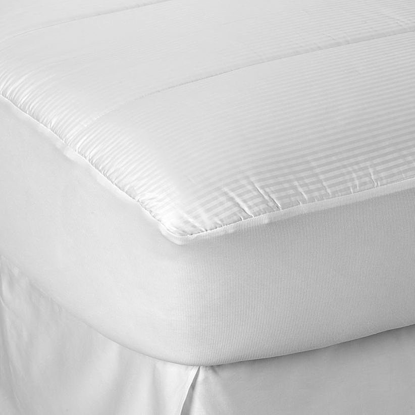 buying guide to mattress pads toppers bed bath beyond. Black Bedroom Furniture Sets. Home Design Ideas