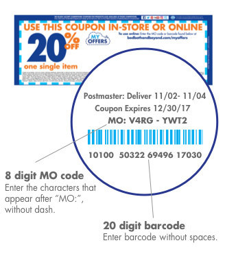 8 digit MO code. Enter the characters that appear after MO:, without dash. 20 digit barcode - enter barcode without spaces.