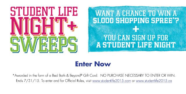 Enter the Student Life Sweepstakes