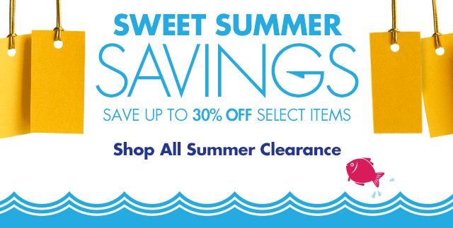 Shop Up to 30% off Select Summer Clearance