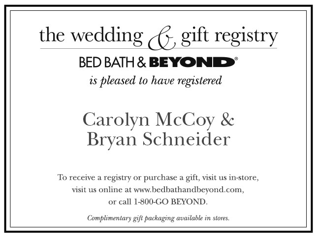 Well-liked Wedding Registry Insert Template #SO43