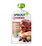 Sprout 2 Organic Baby Food in Apple, Cinnamon and Oatmeal