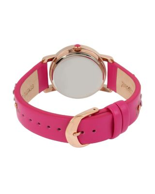 3-D FLOWER CHILD PINK WATCH PINK