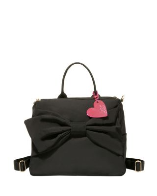 ACTIVE BETSEY NYLON BOW BACKPACK BLACK
