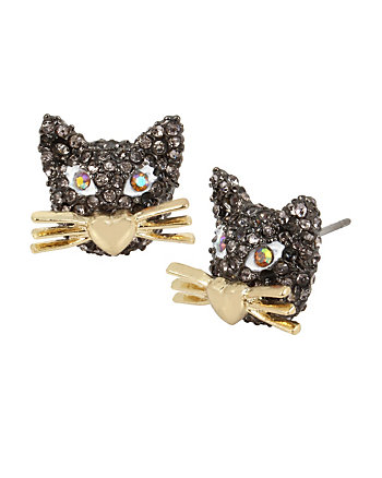 ALL HALLOWS CAT STUD EARRINGS
