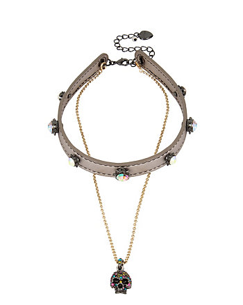 ALL HALLOWS SKULL CHOKER