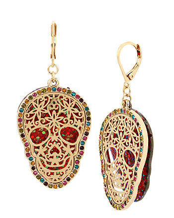 ALL HALLOWS SKULL FILIGREE EARRINGS