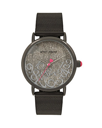 ALL MIXED UP GUNMETAL MESH WATCH