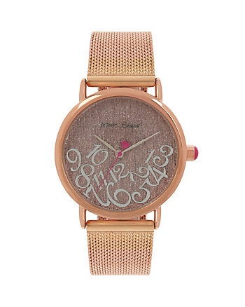 ALL MIXED UP ROSE GOLD MESH WATCH