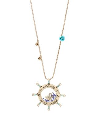 ANCHORS AWAY WHEEL LONG PENDANT BLUE