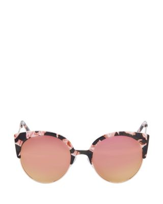 ANIMAL TOP ROUND SUNGLASSES PINK MULTI