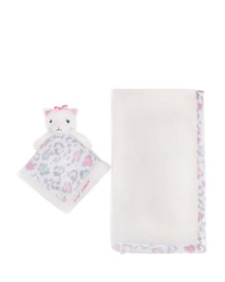 BABY KITTY TWO PIECE BLANKET AND TOY SET IVORY