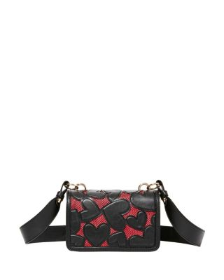 Image of BACHELOR OF FINE HEARTS CROSSBODY BLACK/RED