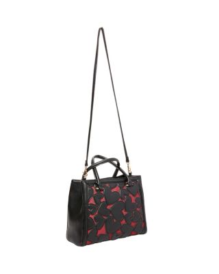 BACHELOR OF FINE HEARTS SATCHEL BLACK/RED