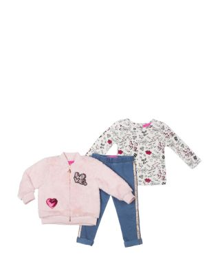 BACK IN TIME TODDLER THREE PIECE SET PINK