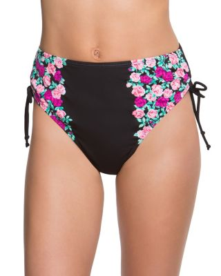 BALLERINA ROSE HIGH WAIST BOTTOM BLACK MULTI
