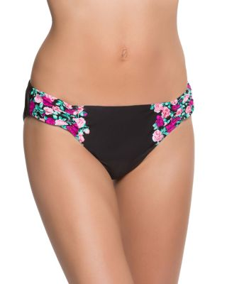 BALLERINA ROSE HIPSTER BOTTOM BLACK MULTI