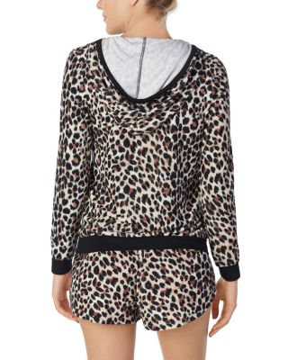 Image of BEAUTY AND THE BEACH TERRY HOODIE LEOPARD