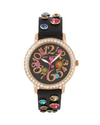 BEJEWELLED BETSEY BLACK WATCH BLACK