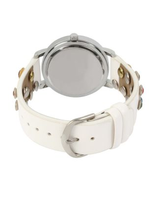BEJEWELLED BETSEY WHITE WATCH WHITE