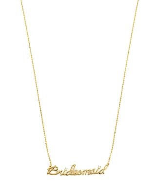 BETSEY BLUE BRIDESMAID GOLD PENDANT CRYSTAL