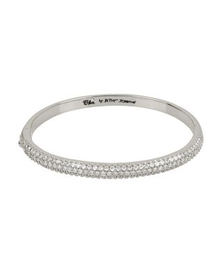 BETSEY BLUE CRYSTAL THREE ROW SILVER BANGLE CRYSTAL