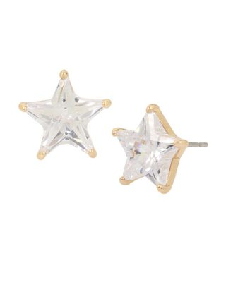 BETSEY BLUE GOLD STAR STUD EARRINGS CRYSTAL