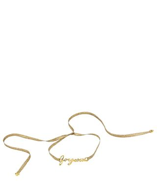 BETSEY BLUE GORGEOUS GOLD CHOKER CRYSTAL