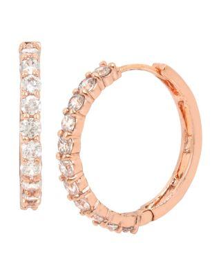 Betsey Blue Jazz Hoop Earrings Crystal